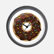 Sprinkle Donut Wall Clock