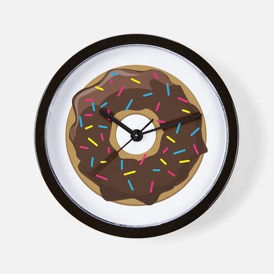Sprinkle Donut Wall Clock