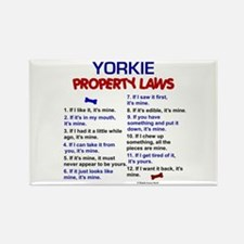 Yorkie Property Laws 3 Rectangle Magnet (100 pack)