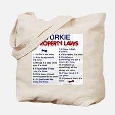 Yorkie Property Laws 3 Tote Bag