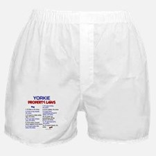 Yorkie Property Laws 3 Boxer Shorts