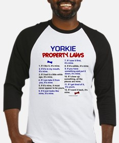 Yorkie Property Laws 3 Baseball Jersey