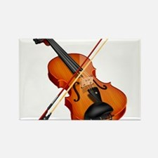 Beautiful Violin and Bow Musical Instrument Magnet