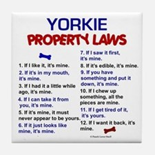 Yorkie Property Laws 3 Tile Coaster