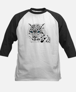 Beautiful Blue Eyed Snow Leopard Baseball Jersey