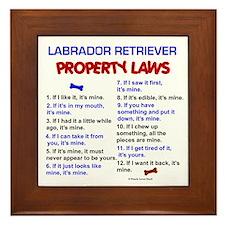 Labrador Retriever Property Laws 3 Framed Tile