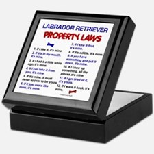 Labrador Retriever Property Laws 3 Keepsake Box
