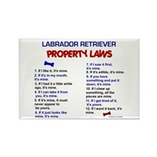 Labrador Retriever Property Laws 3 Rectangle Magne