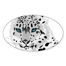 Beautiful Blue Eyed Snow Leopard Decal