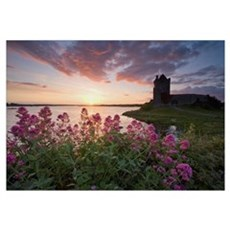 Sunset Over Dunguaire Castle, Kinvara, County Galw Canvas Art