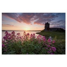 Sunset Over Dunguaire Castle, Kinvara, County Galw Poster