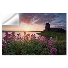 Sunset Over Dunguaire Castle, Kinvara, County Galw Wall Decal
