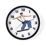 Skateboarders Clock