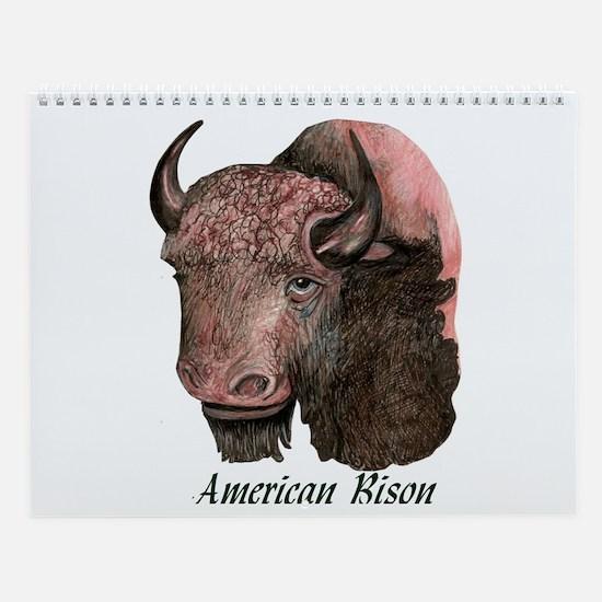 AMERICAN BISON Wall Calendar