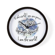 Welsh Springer World2 Wall Clock