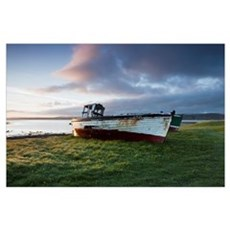 Dilapidated And Abandoned Fishing Boats, Ballyness Poster