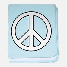 Cute Peace sign baby blanket