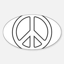 White Peace Symbol Decal