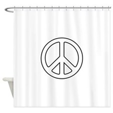 Cute Peace by Shower Curtain