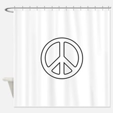 Cute Signing Shower Curtain