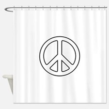 Funny Peace symbol Shower Curtain