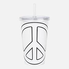 Funny Peace symbol Acrylic Double-wall Tumbler