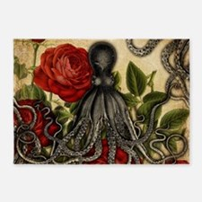 Tentacles And Roses 5'x7'Area Rug