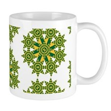 Native Green and Gold Star Round Mug