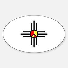 Zia Peace Symbol Sticker (Oval)