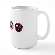 Pug Heads - Row of 4 Mug