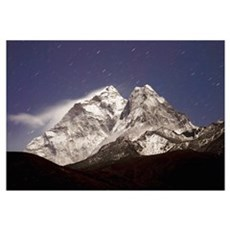 Night View With Star Trails; Ama Dablam, Dingboche Poster