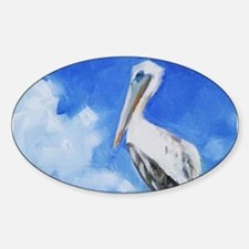 White Pelican Painting Decal