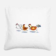 3 chickens Square Canvas Pillow