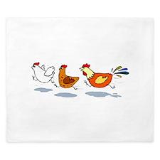 3 chickens King Duvet