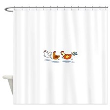 3 chickens Shower Curtain
