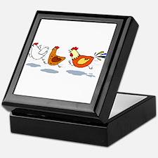 3 chickens Keepsake Box