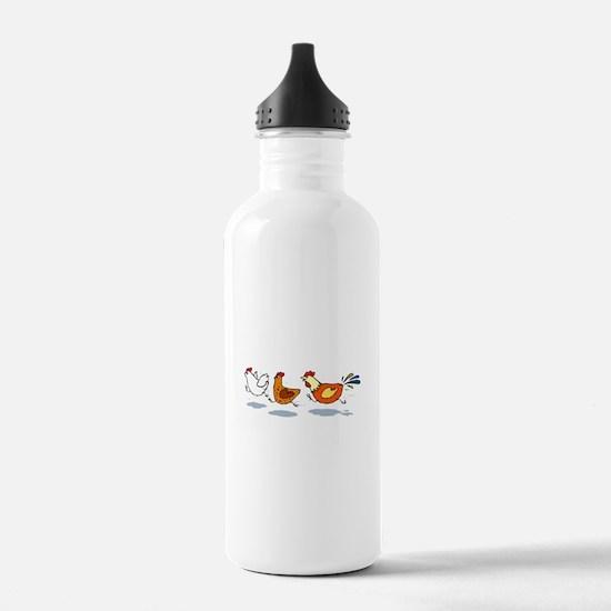 3 chickens Water Bottle