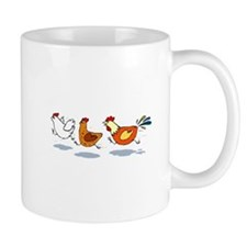 3 chickens Mugs