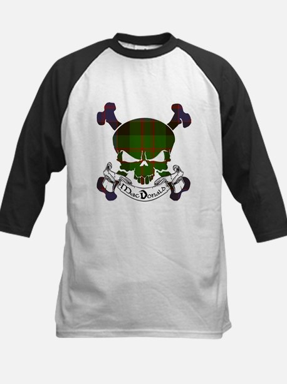 MacDonald Tartan Skull Kids Baseball Jersey