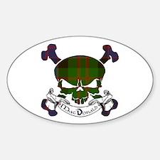 MacDonald Tartan Skull Decal