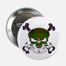 "MacDonald Tartan Skull 2.25"" Button"