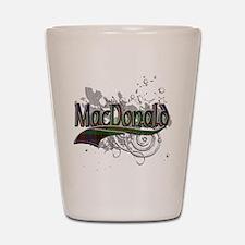 MacDonald Tartan Grunge Shot Glass