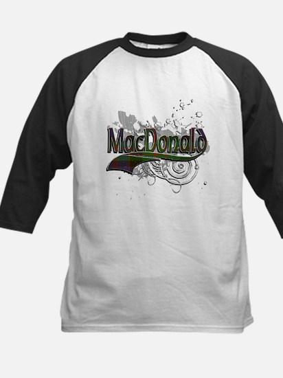 MacDonald Tartan Grunge Kids Baseball Jersey
