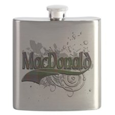 MacDonald Tartan Grunge Flask