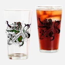 MacDonald Tartan Lion Drinking Glass