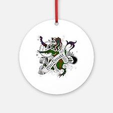 MacDonald Tartan Lion Ornament (Round)