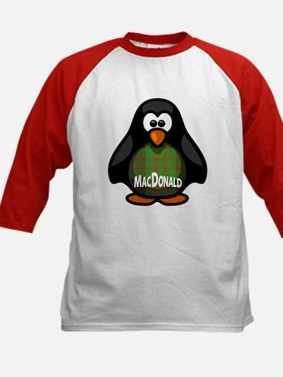 MacDonald Tartan Penguin Kids Baseball Jersey