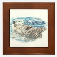Otterly Adorable Humorous Cute Otter Animal Framed