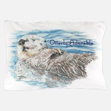 Otterly Adorable Humorous Cute Otter Animal Pillow