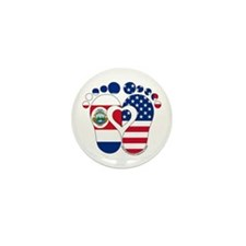 Costa Rican American Baby Mini Button (10 pack)